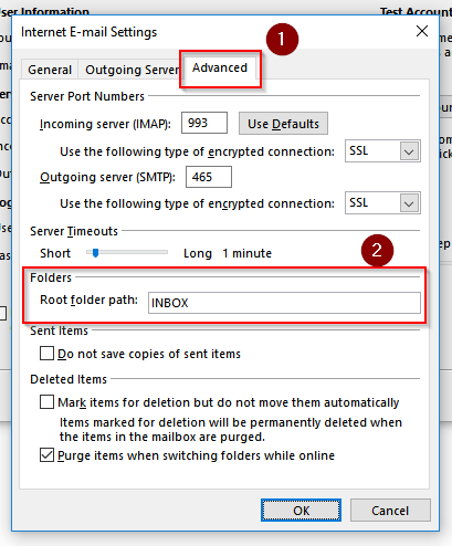Setup an email account in Outlook 2016 - Rock Level