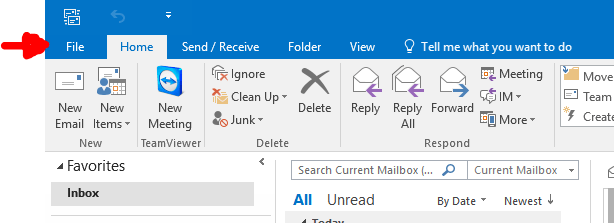 Outlook Account Setup - New Account 1