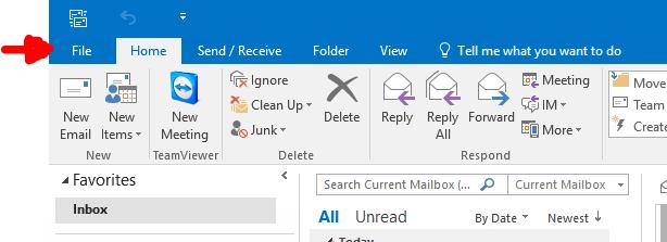 Outlook Account Setup - New Account 1