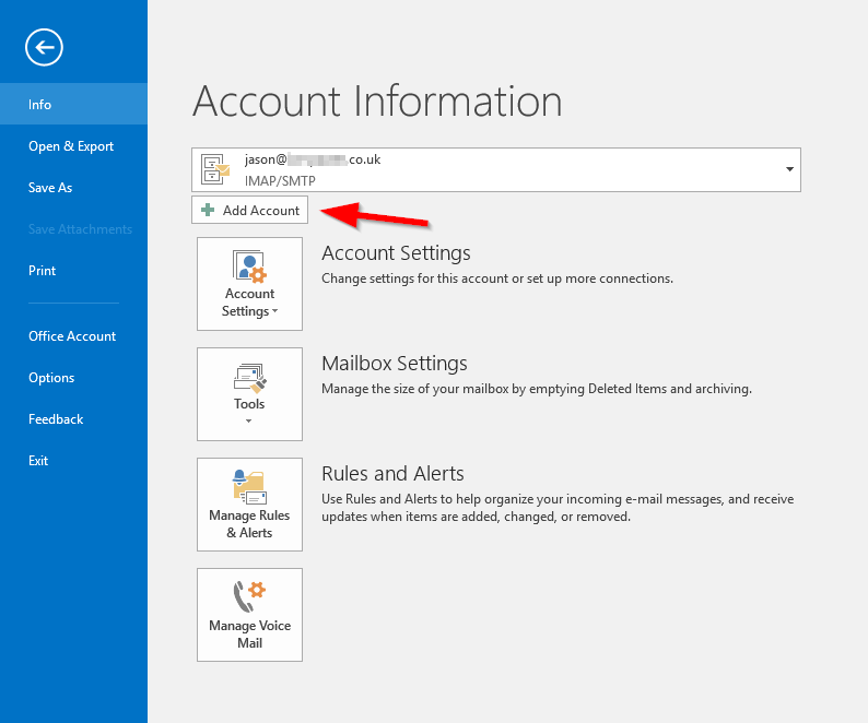 2016020501 - Outlook Account Setup - New Account 2