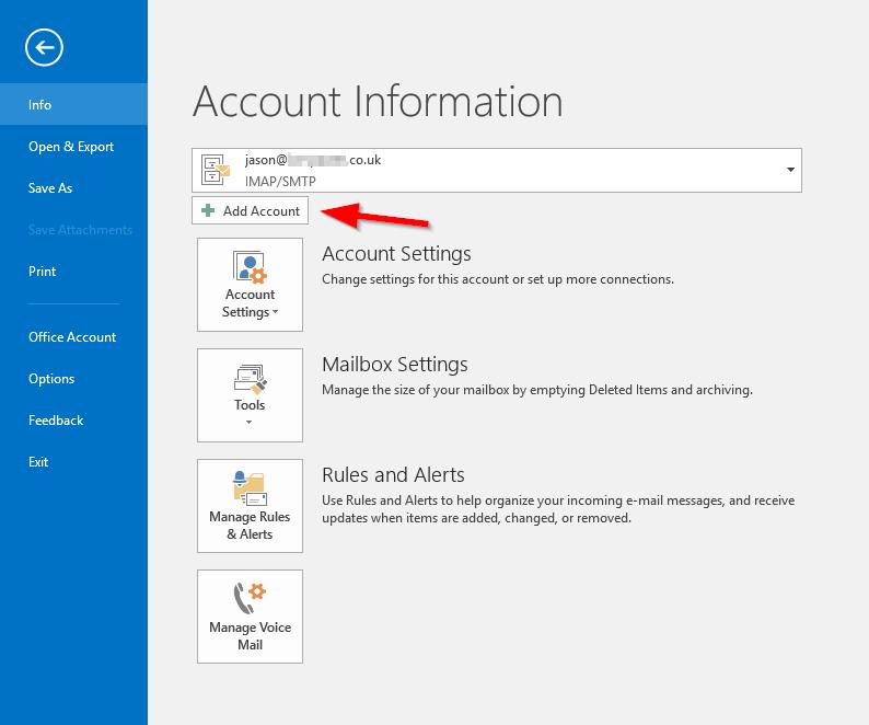 2016020501 - Outlook Account Setup - New Account 2